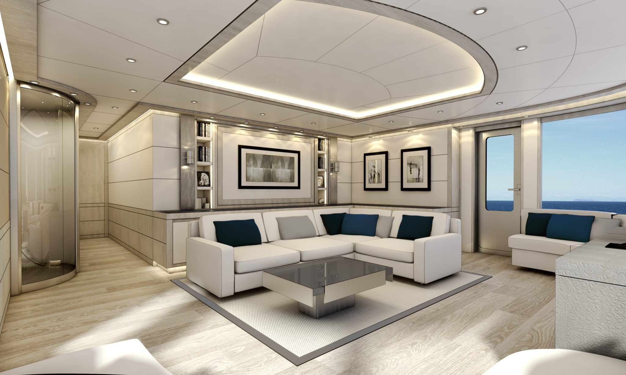 AISP 45 super motor yacht sitting area