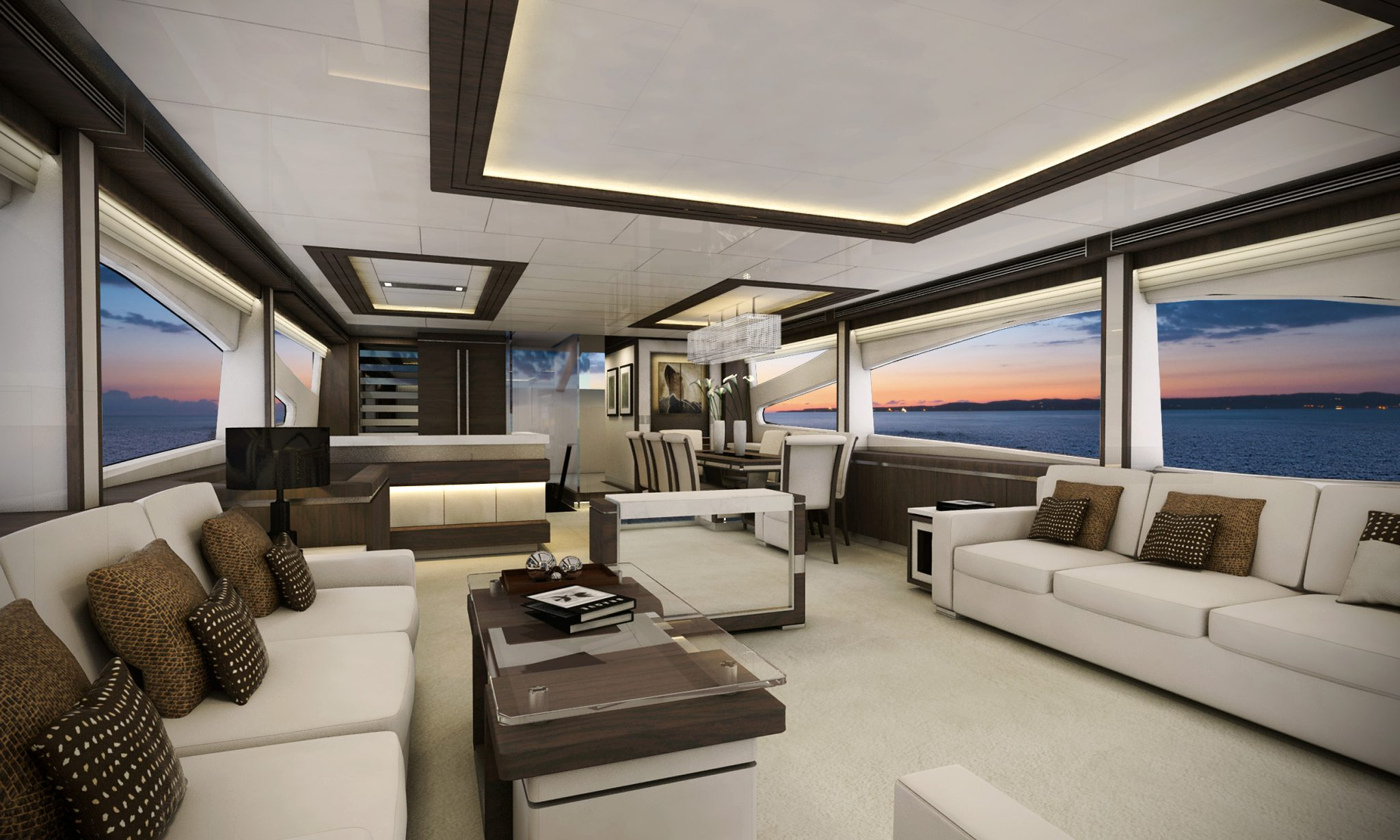 YD 32m concept... She features contemporary and sleek lines with more spacious upper deck as it reaches the beach club. Interior Design