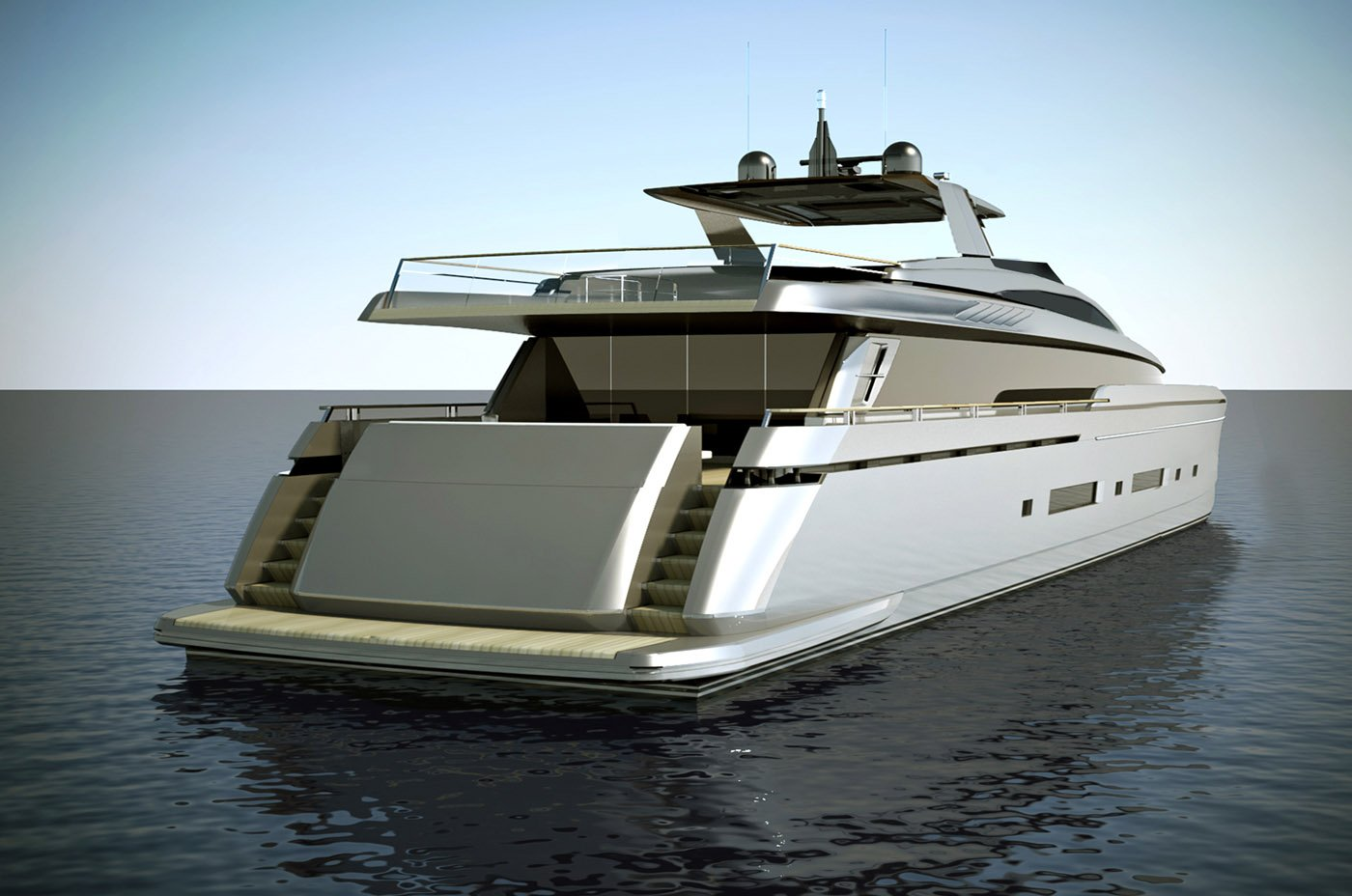 Iron Sky 36 meter motor Concept Design designed for Mengi Yay Yachts
