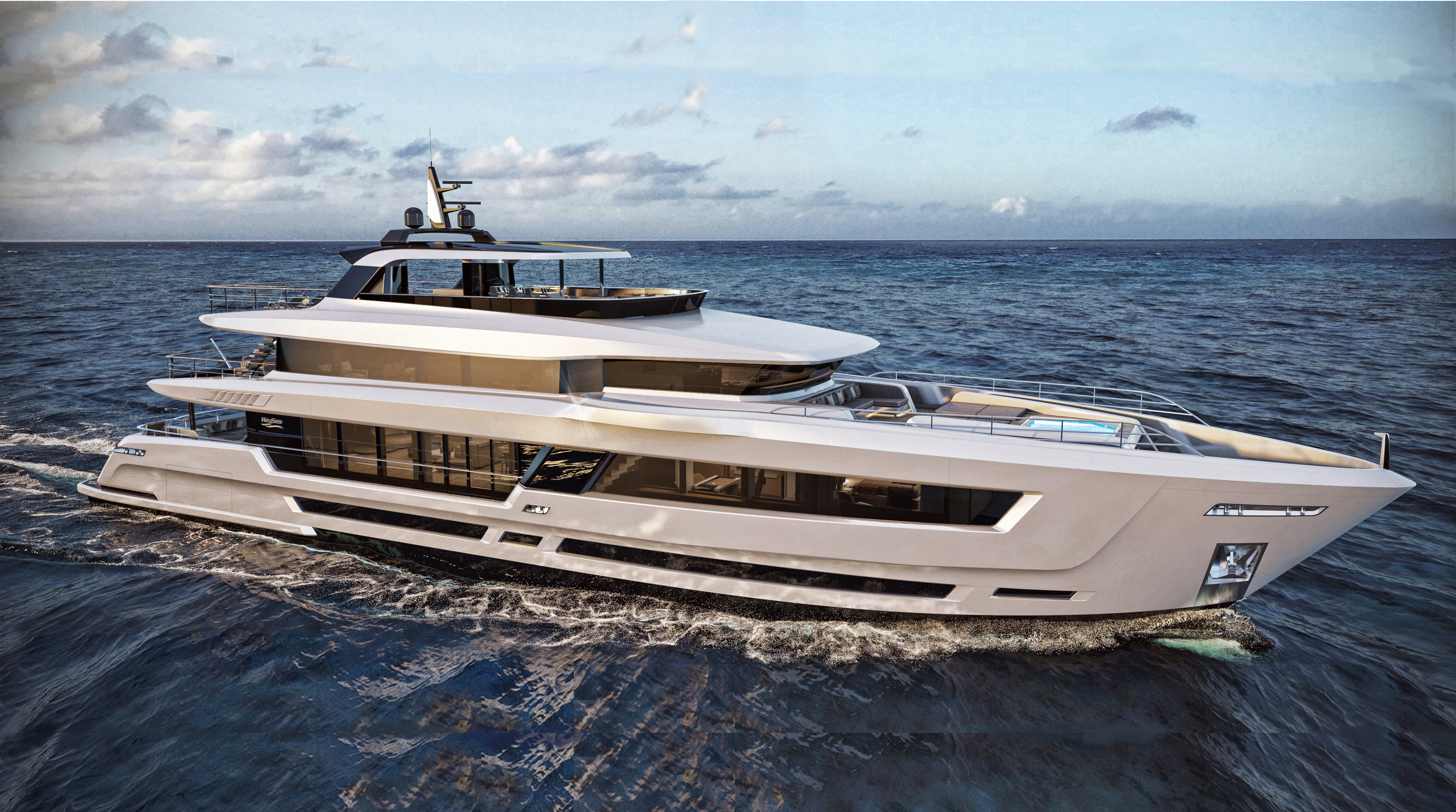 Heysea Yachts Asteria 139 superyacht under construction at Heysea