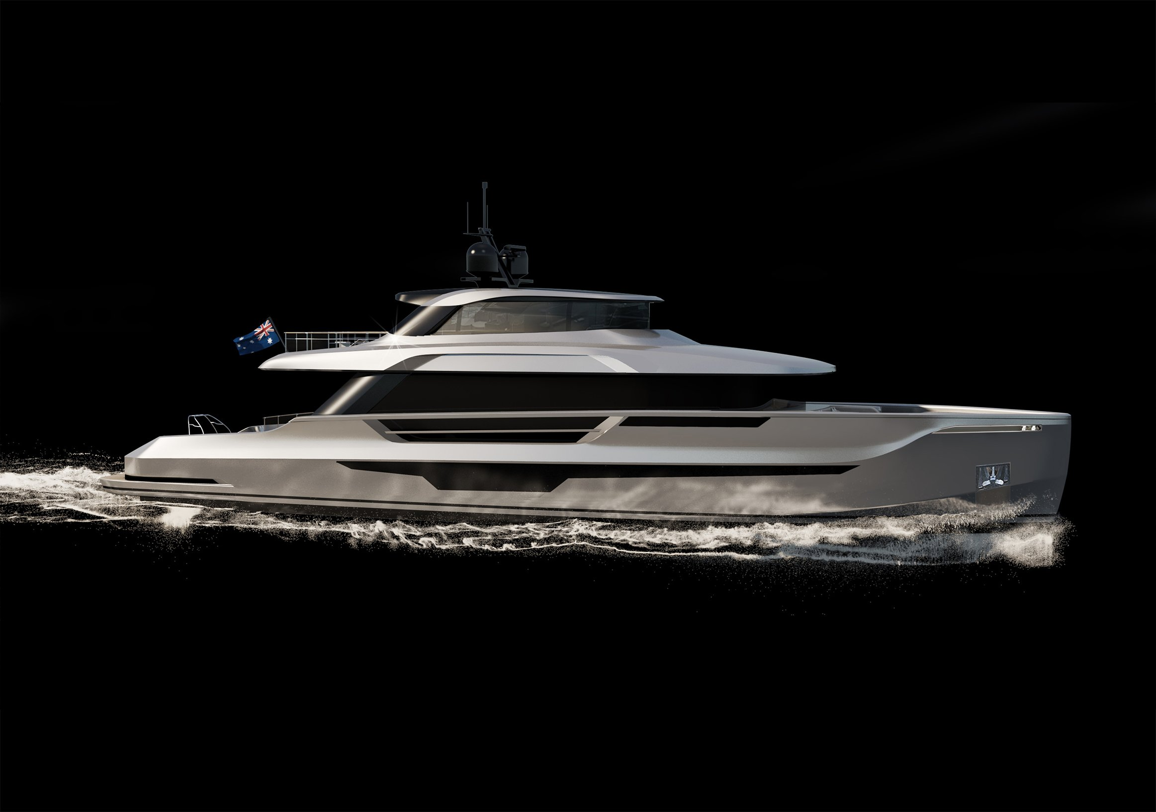 AVALON 26 Exterior Design For Heysea yachts motor yachts