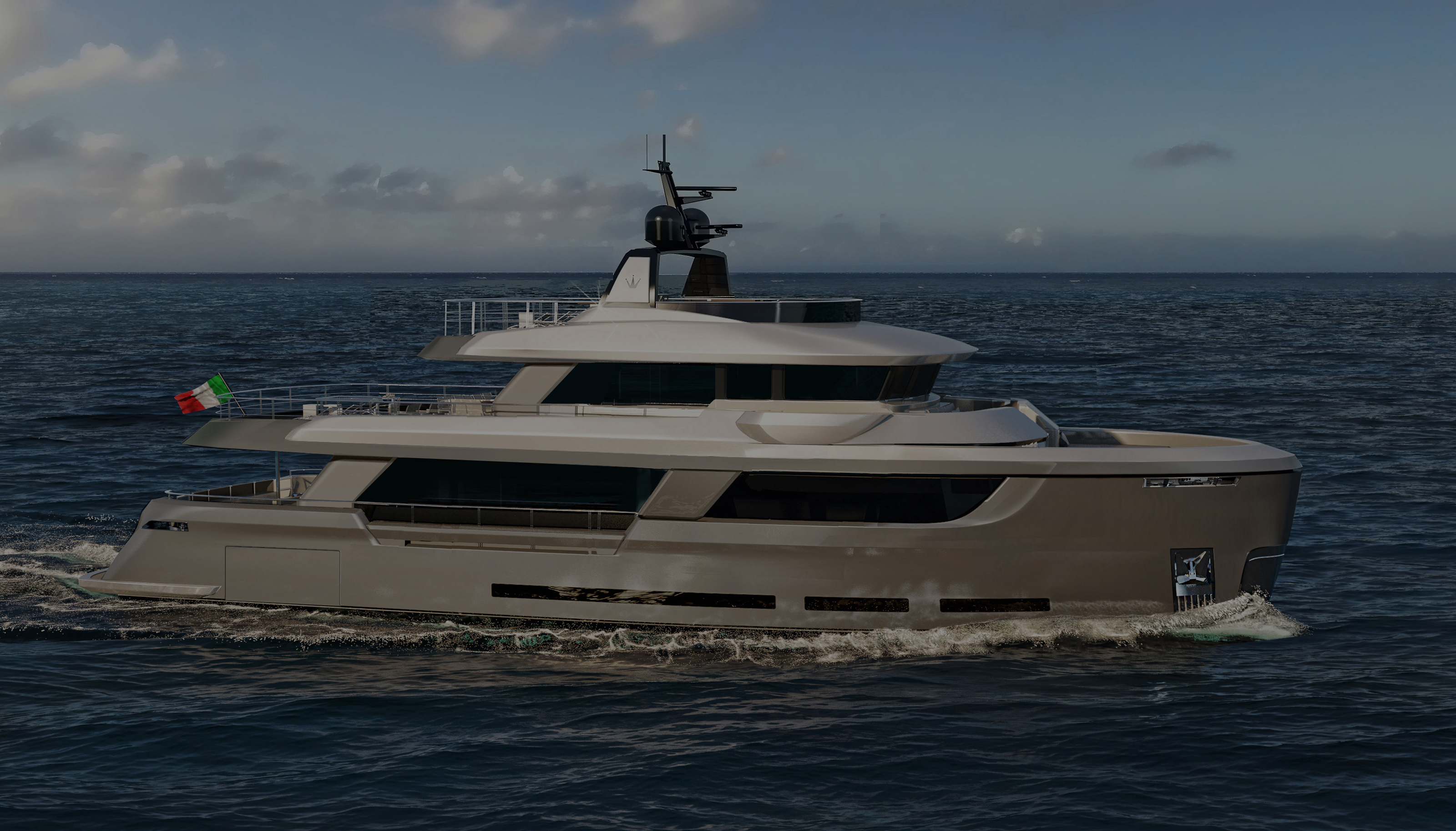 Classic 108R Explorer Yacht Designed for Ocean King Explorer Yachts First Render of the Page