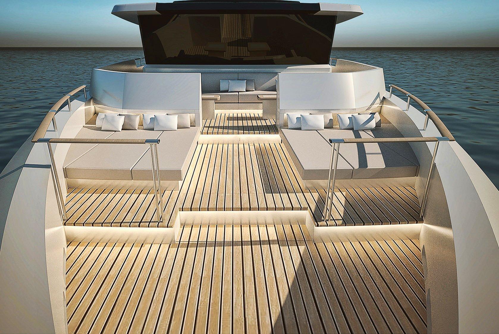 Ducale 118 Explorer Yacht Aft Render