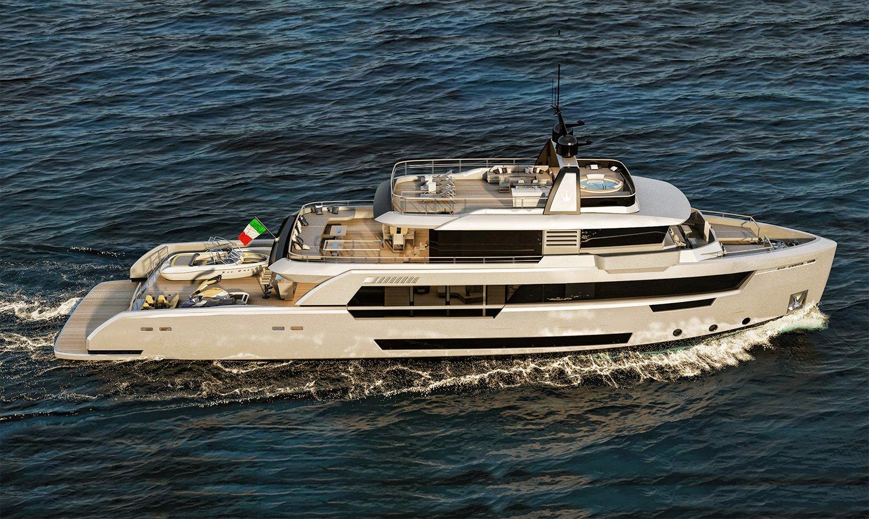 Ducale 118 Ducale 118 (8Ducale 118 Explorer Yacht Exterior Design Render