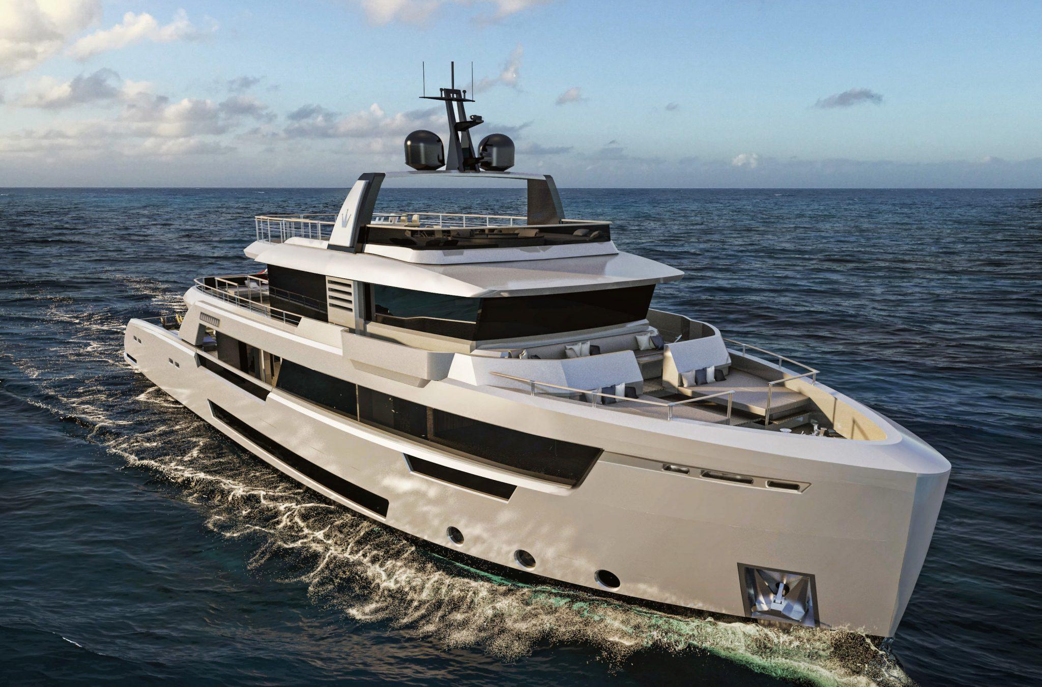 Ducale 118 Explorer Yacht Bow Render