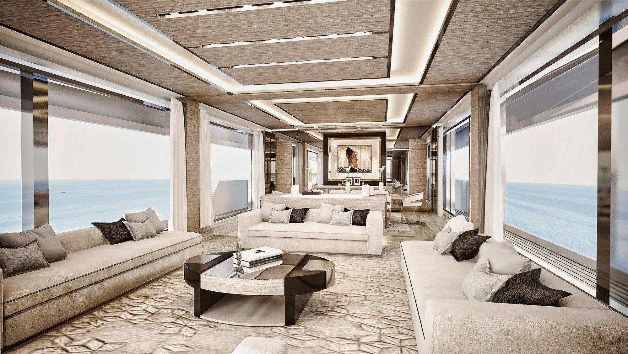 Ducale 118 (8Ducale 118 Explorer Yacht Interior Design Saloon Render