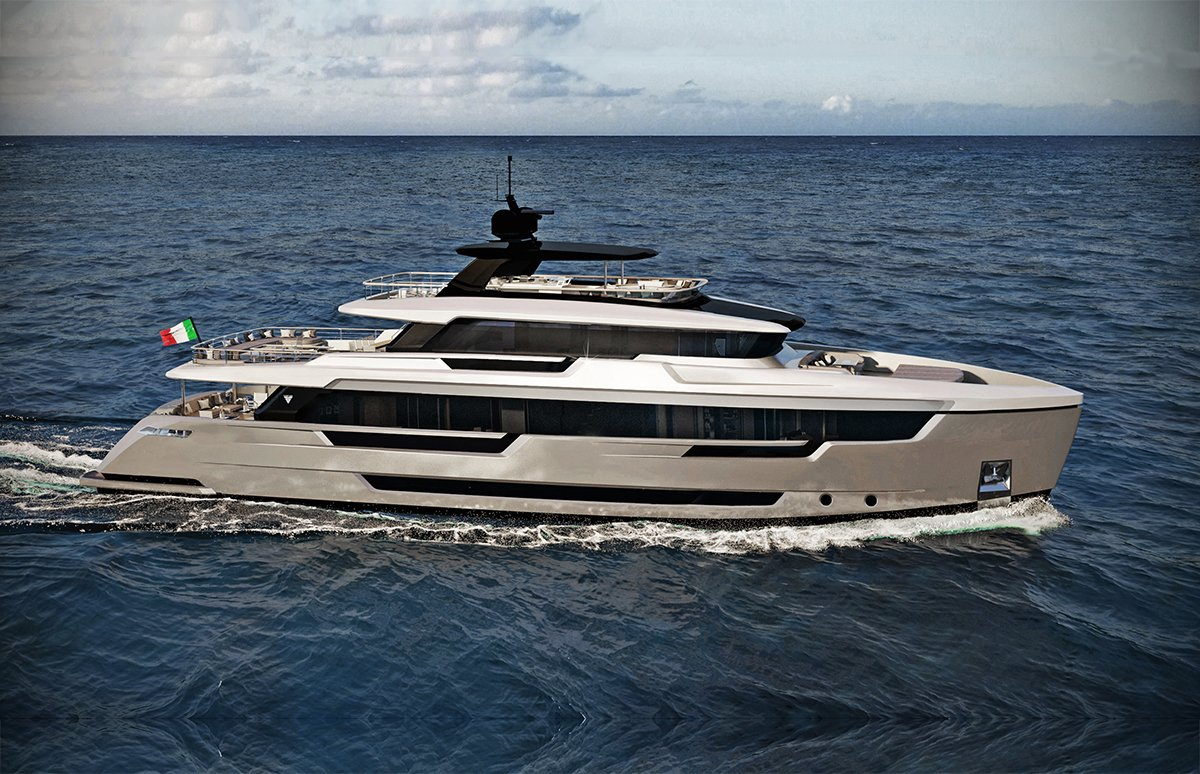 Filippetti E32 Explorer Yacht Featured Render for Portfolio
