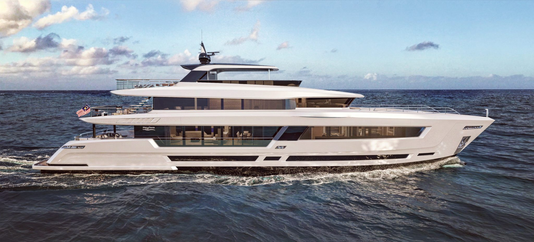 Heysea Asteria 139 Exterior Design Side Render