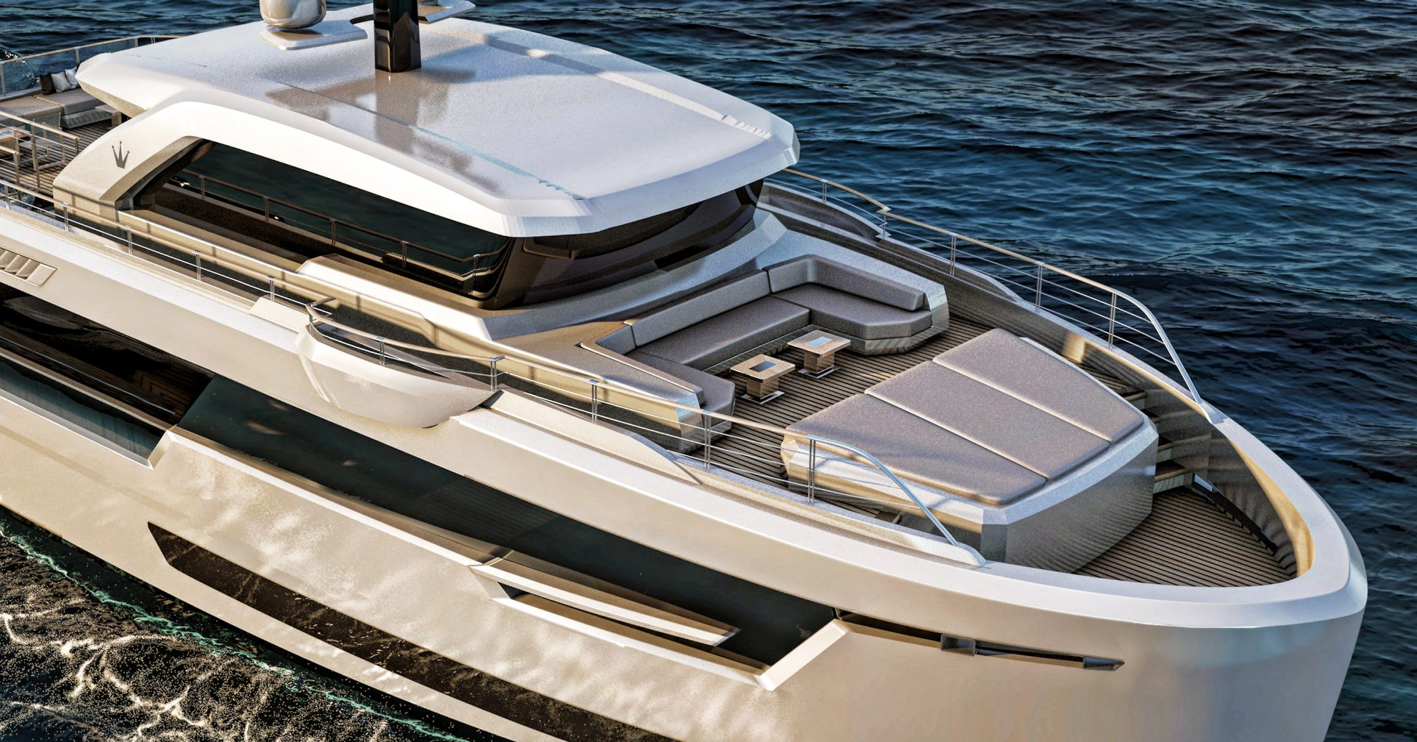 Bow render of ducale 88 with seating area