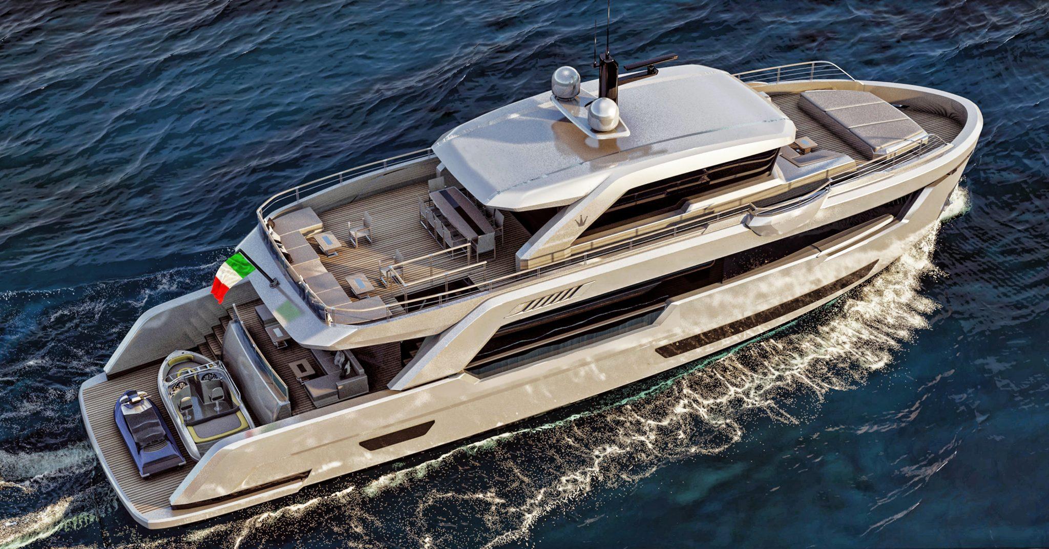 Ducale 88 Explorer Yacht Aft Render