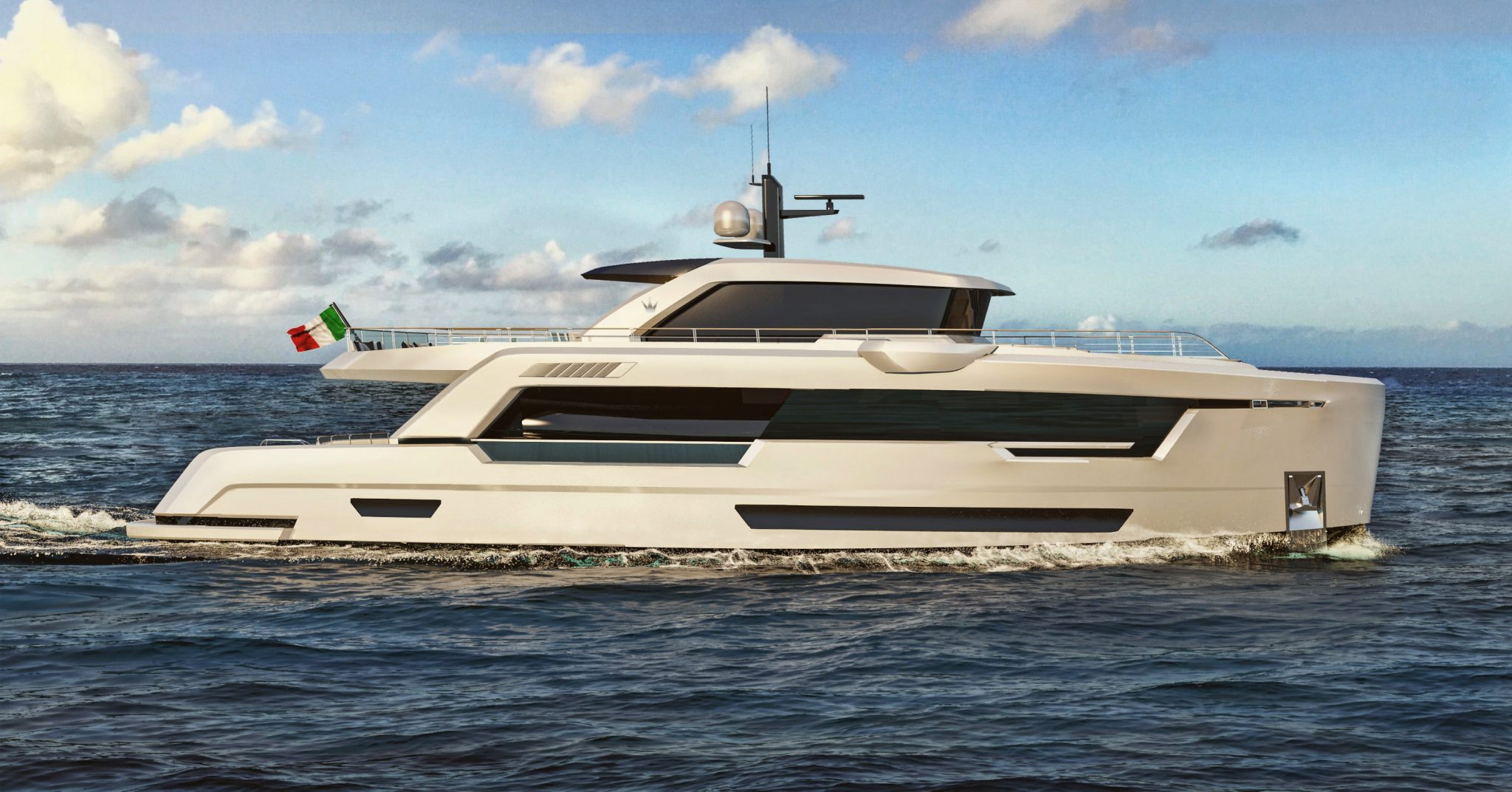 Stylish Explorer Yacht Ducale 88 Render