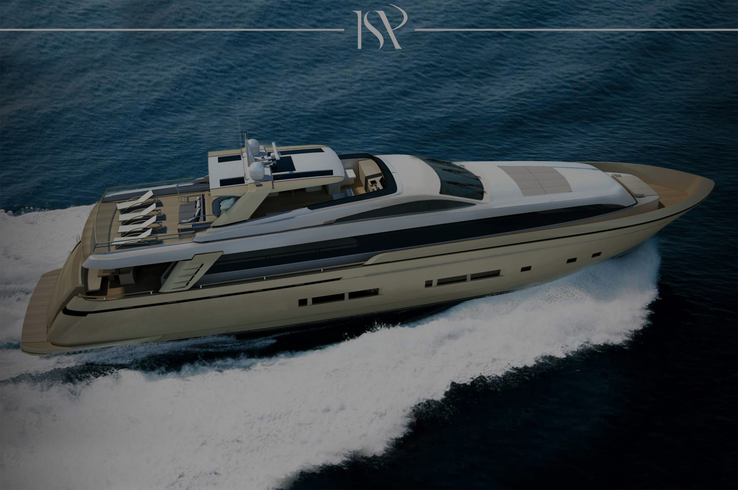ISA 32 luxury motor yacht exterior designed for ISA yachts Slider revolution render