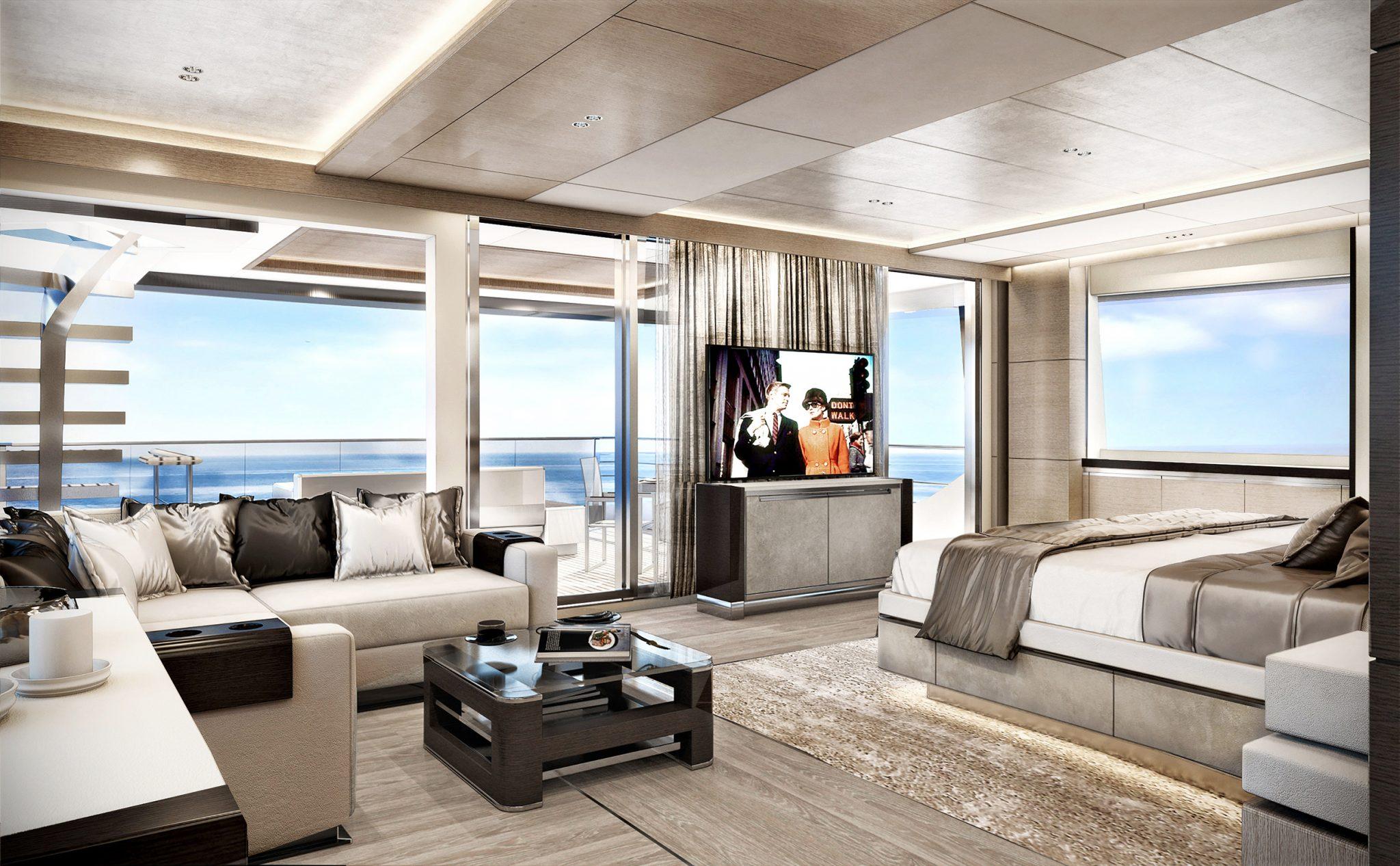 Heysea Asteria 139 Exterior Interior design owners cabin