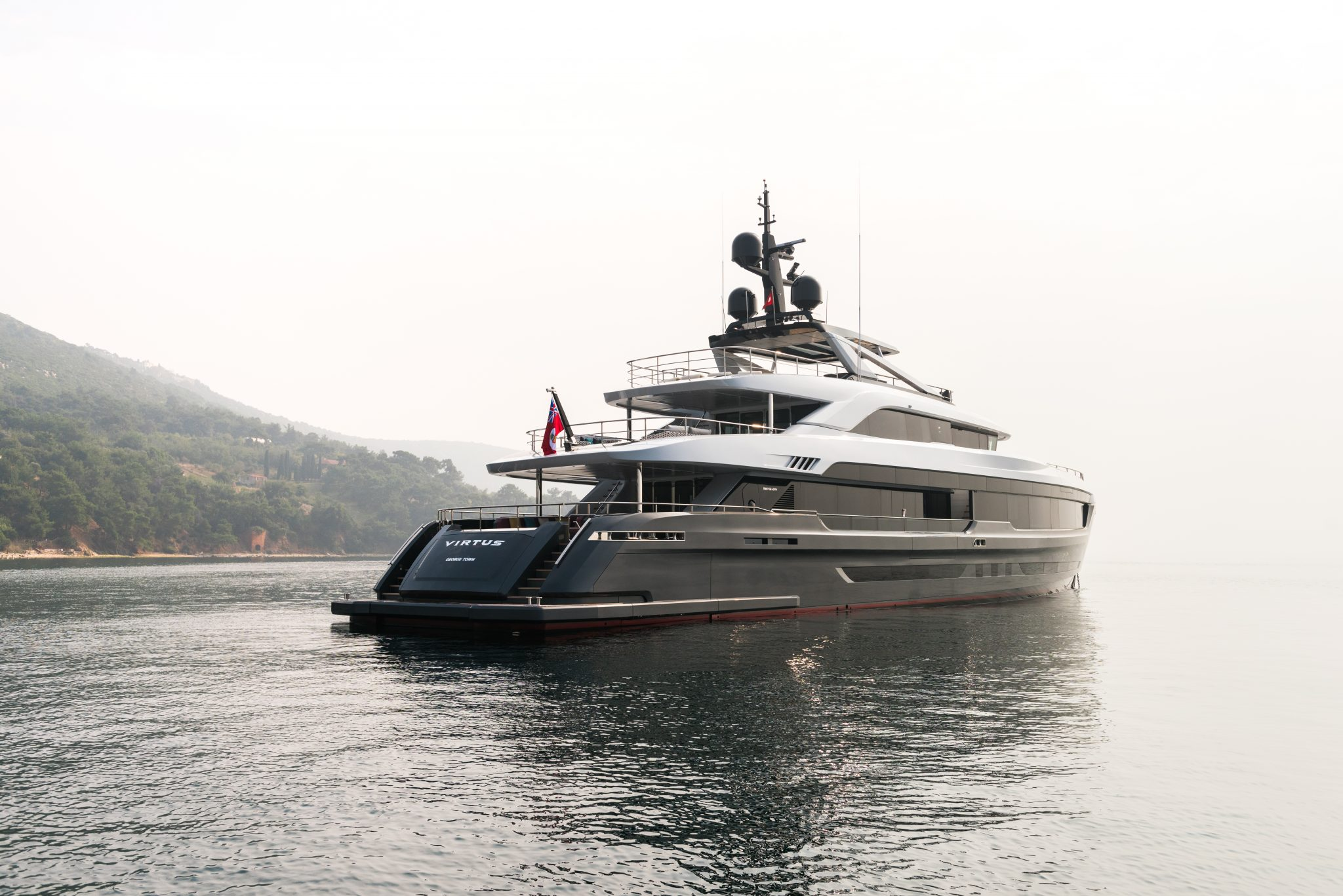 Virtus 44m features a beach club which provides 60 meter square area for leisure activities