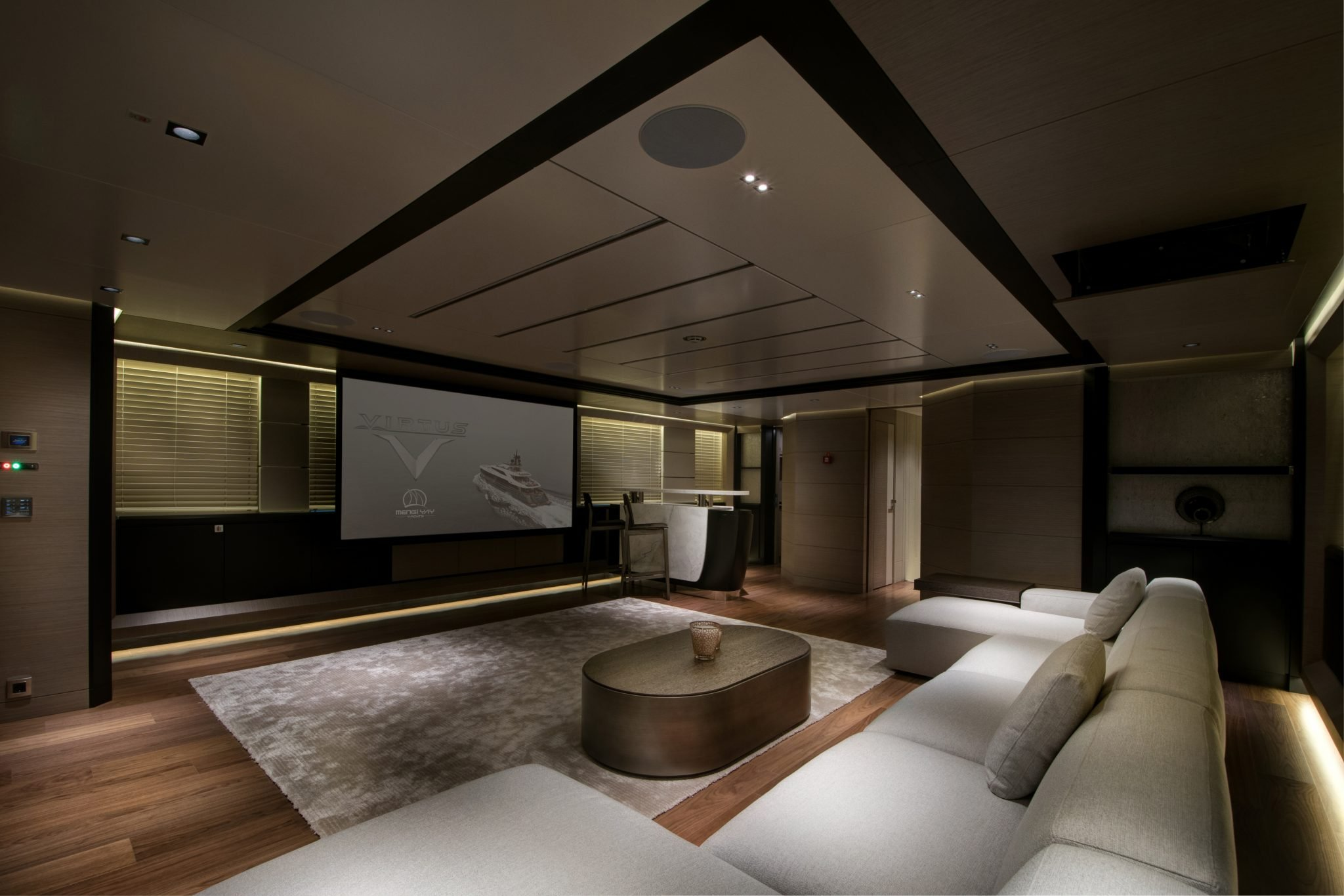 44m Virtus Yacht Upper Deck Lounge