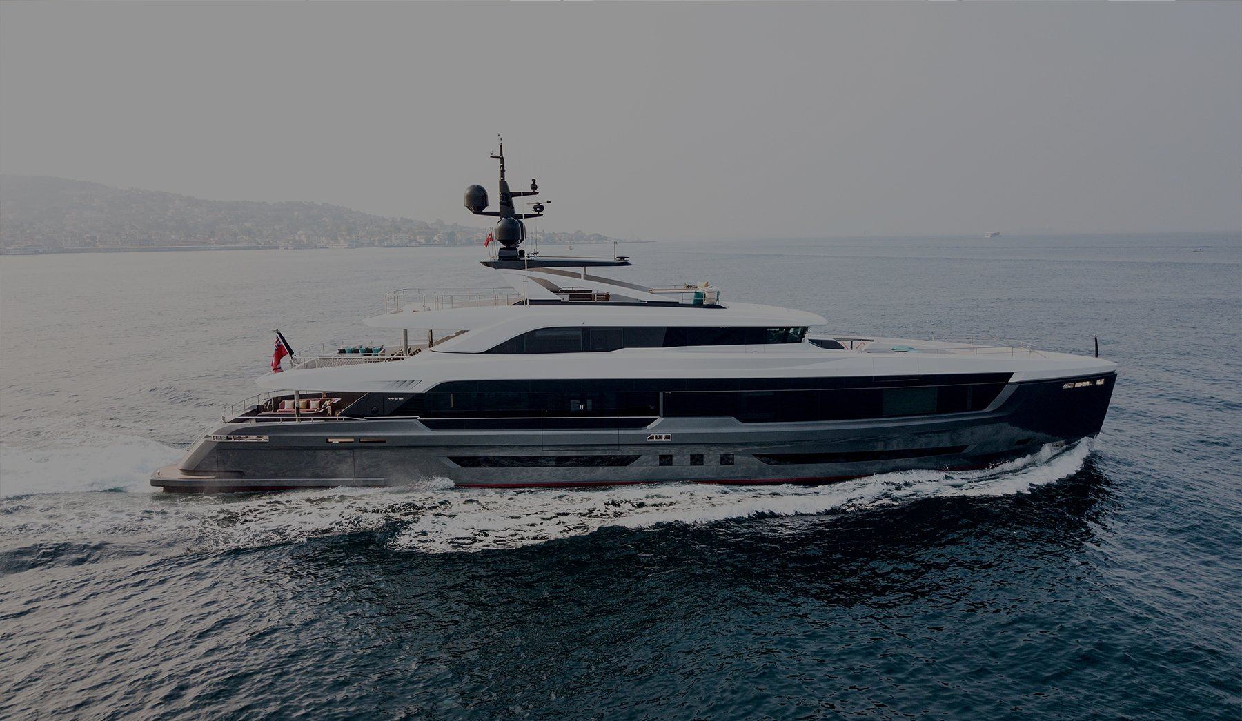 Virtus 44m Exterior Design Photo Drone Shooting Superyacht