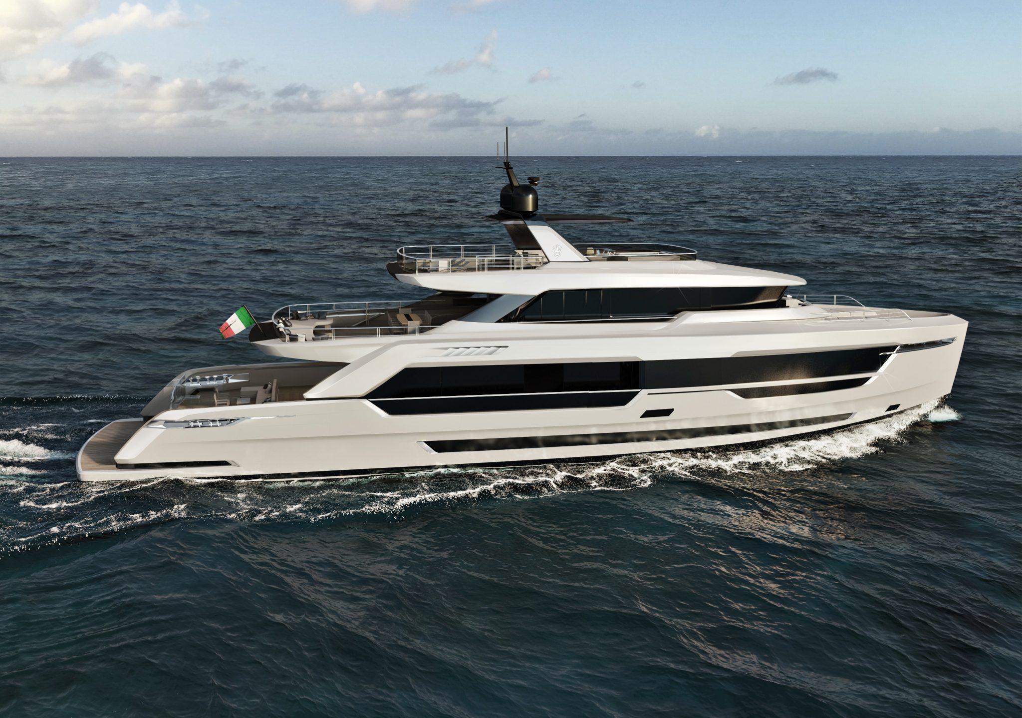 Ducale 118 Navetta Style Explorer Yacht Aft Render