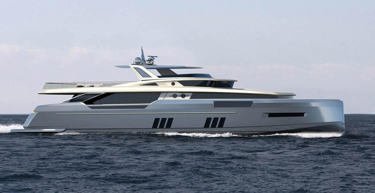 YD 32m concept... She features contemporary and sleek lines with more spacious upper deck as it reaches the beach club.
