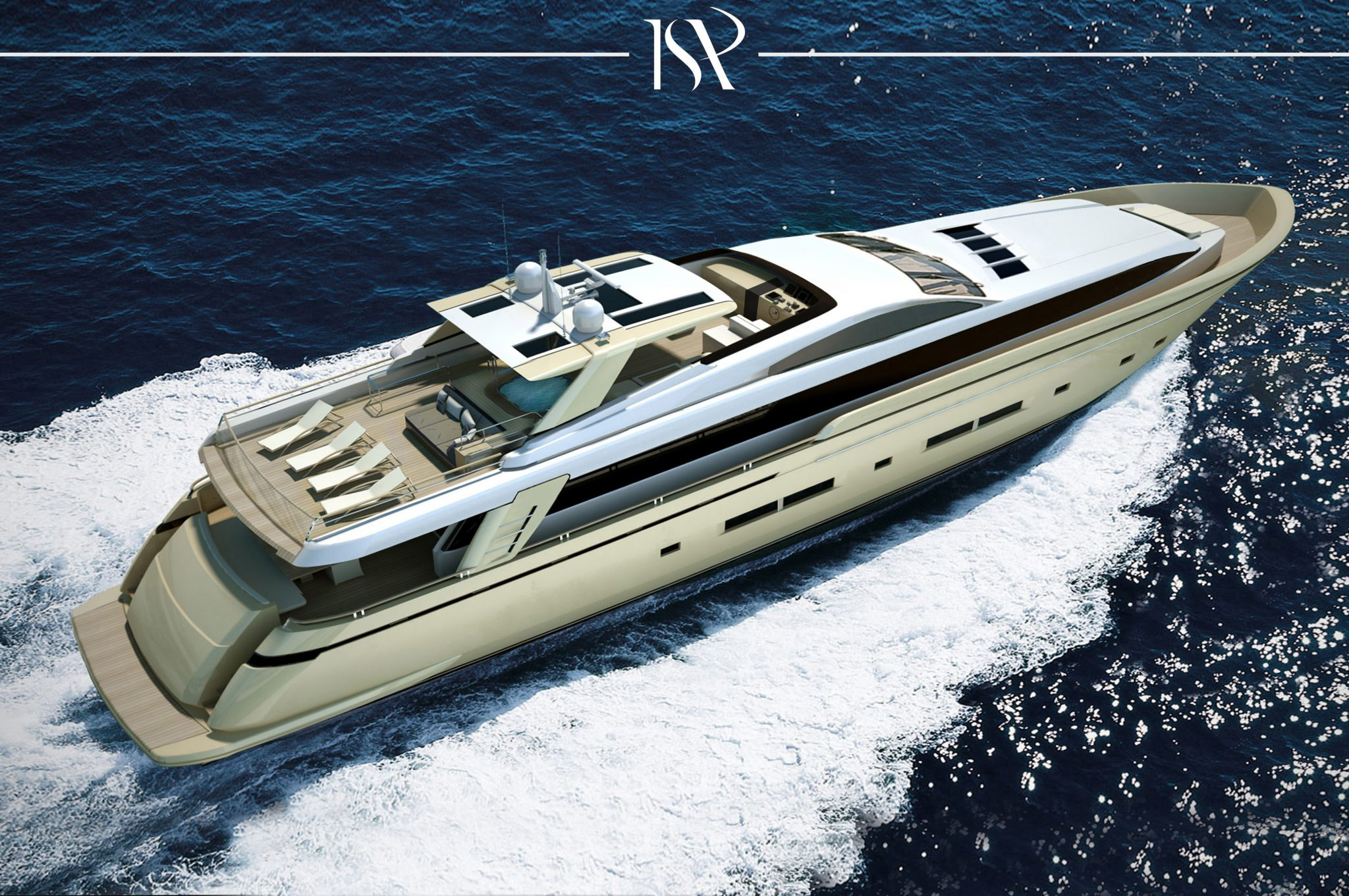 ISA 32 luxury motor yacht exterior designed for ISA yachts
