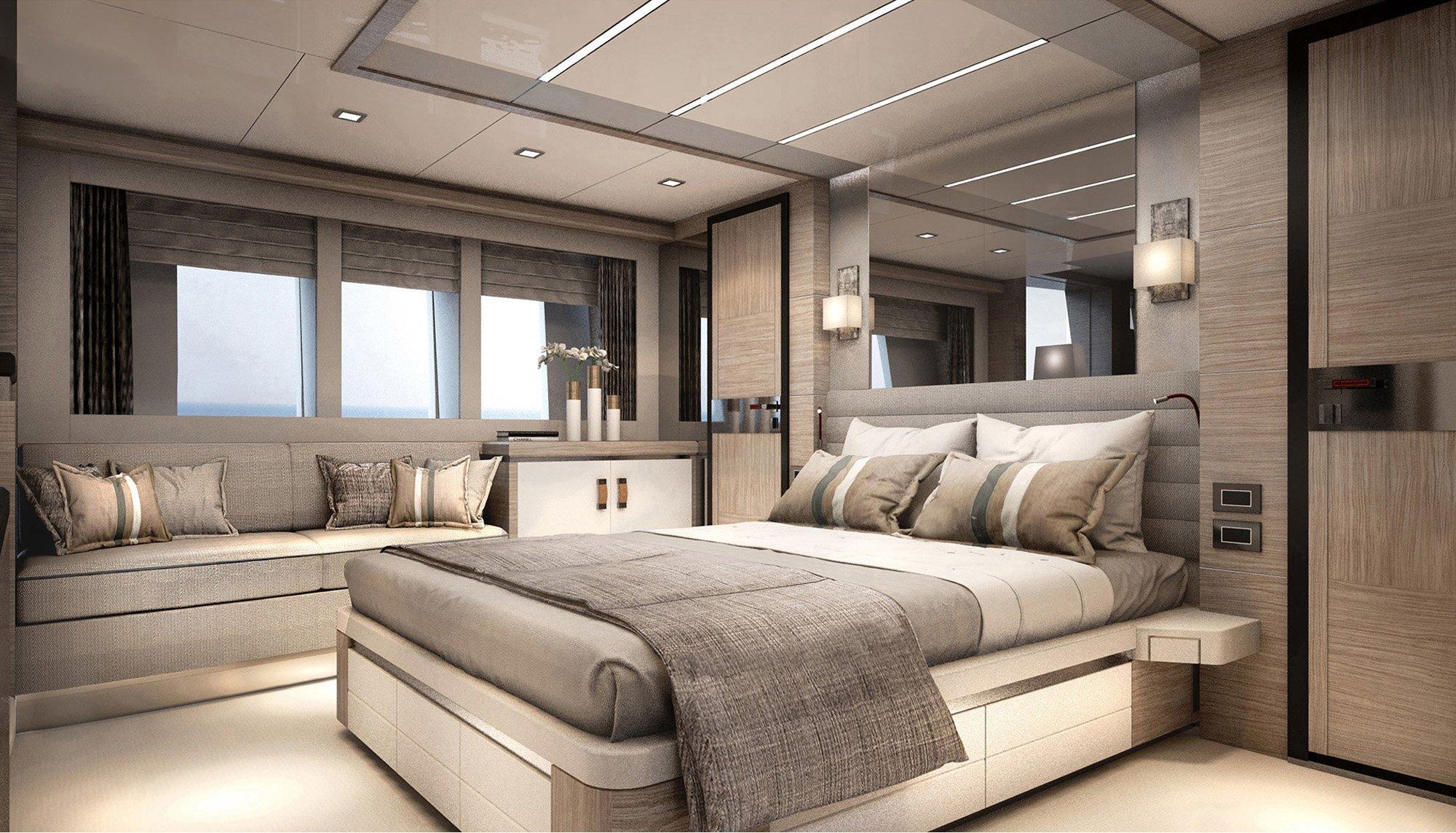 Stylish Explorer Yacht Ducale 88 SkyviewRender